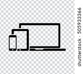 devices icon | Shutterstock .eps vector #505933366