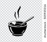 soup bowl icon | Shutterstock .eps vector #505935316