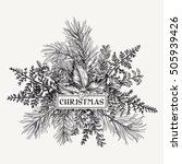 Greeting Card With Pine...