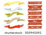 christmas set labels and... | Shutterstock .eps vector #505943392