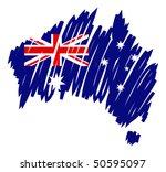 map flag australia   Shutterstock .eps vector #50595097