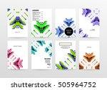 geometric background template...   Shutterstock .eps vector #505964752