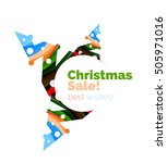 christmas colorful geometric... | Shutterstock .eps vector #505971016