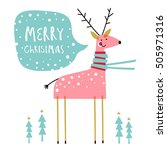 christmas card. creative hand... | Shutterstock .eps vector #505971316