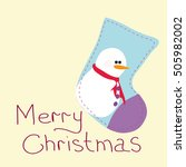 greeting card with christmas.... | Shutterstock .eps vector #505982002