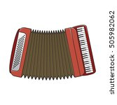 accordion western music... | Shutterstock .eps vector #505982062