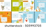 vector photo book with cartoon... | Shutterstock .eps vector #505993705