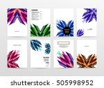 geometric background template... | Shutterstock .eps vector #505998952