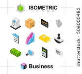 the set of business icons. the... | Shutterstock .eps vector #506000482