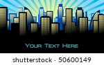 abstract city background.... | Shutterstock .eps vector #50600149