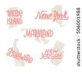 rhode island  new york ... | Shutterstock .eps vector #506001988