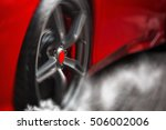 detail on hot red super sport... | Shutterstock . vector #506002006