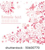 beautiful floral card | Shutterstock .eps vector #50600770