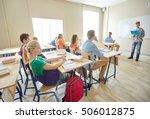 education  school  learning ... | Shutterstock . vector #506012875