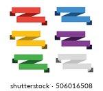 ribbon material design vector | Shutterstock .eps vector #506016508