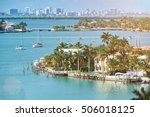 waterfront houses in miami city ... | Shutterstock . vector #506018125