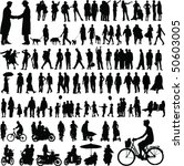 collection of abstract people... | Shutterstock . vector #50603005