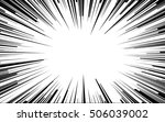 light rays. comic book black... | Shutterstock .eps vector #506039002