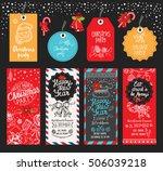 christmas restaurant brochure ... | Shutterstock .eps vector #506039218