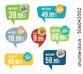 sale stickers. | Shutterstock .eps vector #506043502