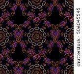 floral seamless pattern.... | Shutterstock .eps vector #506045545