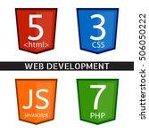 vector icon set for web design. ...   Shutterstock .eps vector #506050222