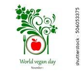 world vegetarian day.  november ... | Shutterstock .eps vector #506053375