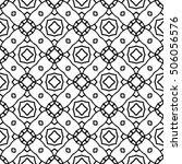 line ornament pattern. black... | Shutterstock .eps vector #506056576