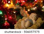christmas nativity retro...   Shutterstock . vector #506057575