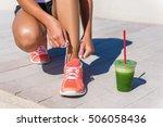 running woman athlete runner... | Shutterstock . vector #506058436