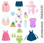baby girl elements | Shutterstock .eps vector #50606152