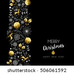 merry christmas happy new year... | Shutterstock .eps vector #506061592