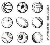 monochrome collection of... | Shutterstock .eps vector #506066035