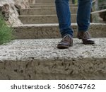 young man downstairs | Shutterstock . vector #506074762
