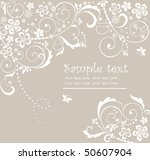pastel greeting card | Shutterstock .eps vector #50607904