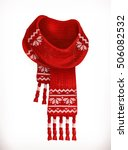 winter scarf. 3d vector icon | Shutterstock .eps vector #506082532