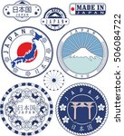 japan. set of generic stamps... | Shutterstock .eps vector #506084722