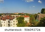 prague cityscape panorama in an ... | Shutterstock . vector #506092726