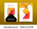 geometric design  business... | Shutterstock .eps vector #506112298