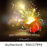 christmas background with open... | Shutterstock .eps vector #506117896