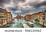 Small photo of View from Academia bridge on Grand Canal and Basilica Santa Maria della Salute and cruise ship, Venice, Italy
