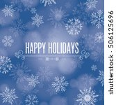 'happy holidays' greeting with... | Shutterstock .eps vector #506125696