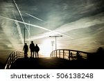 three human silhouettes... | Shutterstock . vector #506138248