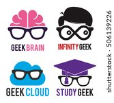 geek logo icon template set | Shutterstock .eps vector #506139226