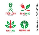 food restaurant logo icon... | Shutterstock .eps vector #506143546