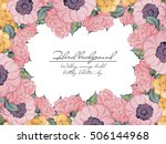 vintage delicate invitation... | Shutterstock . vector #506144968