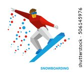 winter sports   snowboarding.... | Shutterstock .eps vector #506145976
