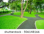 green city public park. | Shutterstock . vector #506148166