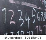 Chalkboard School Numbers