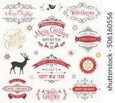 vintage typographic design set. ... | Shutterstock .eps vector #506160556